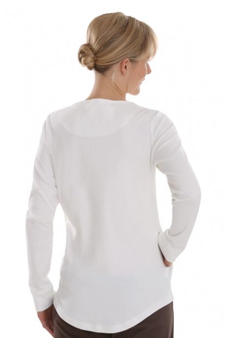 Comazo Biowäsche, Shirt langarm für Damen in offwhite - Rückansicht