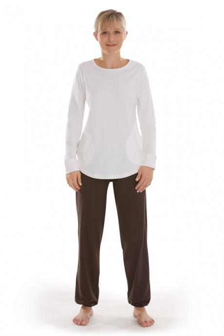 Comazo Biowäsche, Shirt langarm für Damen in offwhite - Gesamtansicht