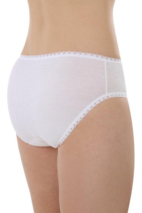 Comazo Biowäsche, Jazz-Pants für Damen in weiss - Rückansicht