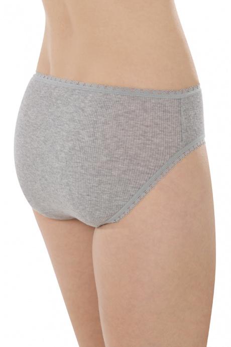 Comazo Biowäsche, Jazz-Pants für Damen in grau-melange - Rückansicht
