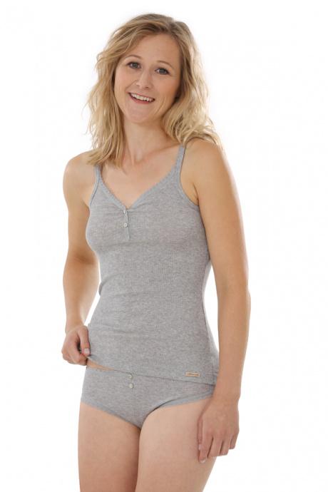 Comazo Biowäsche, Jazz-Pants für Damen in grau-melange - Gesamtansicht