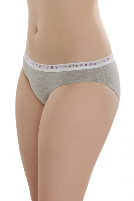 Comazo Biowäsche, Mini-Slip für Damen in grau-melange - Vorderansicht