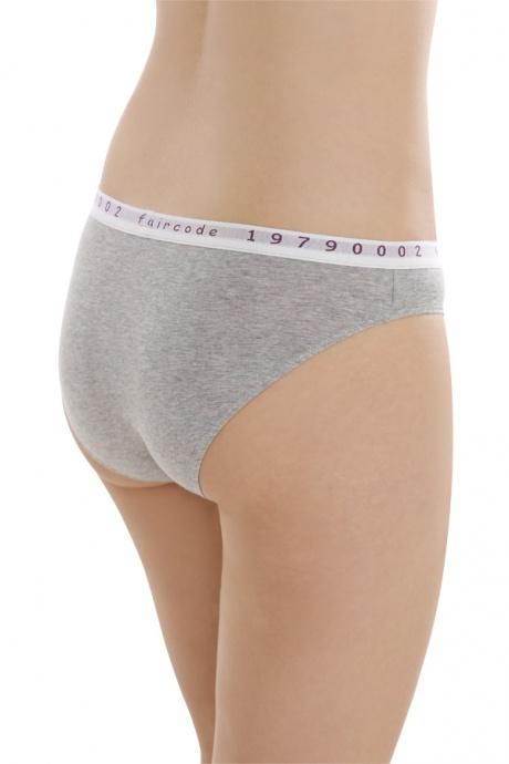 Comazo Biowäsche, Mini-Slip für Damen in grau-melange - Rückansicht