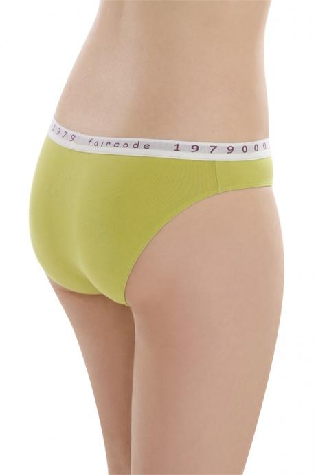 Comazo Biowäsche, Mini-Slip für Damen in kiwi - Rückansicht