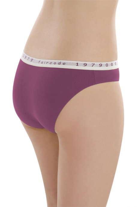 Comazo Biowäsche, Mini-Slip für Damen in plum - Rückansicht