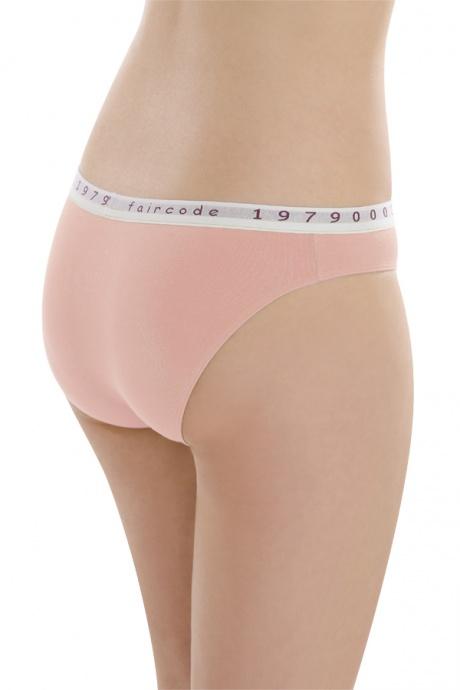 Comazo Biowäsche, Mini-Slip für Damen in peach - Rückansicht