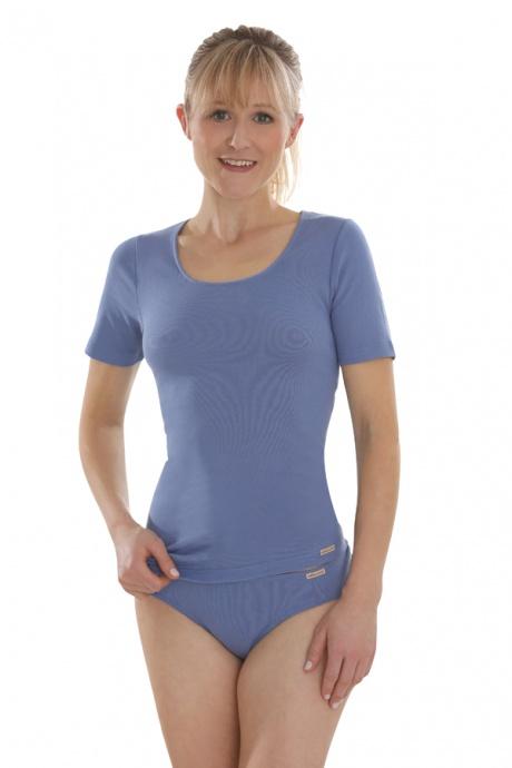 Comazo Biowäsche, Mini-Slip für Damen in jeansblau