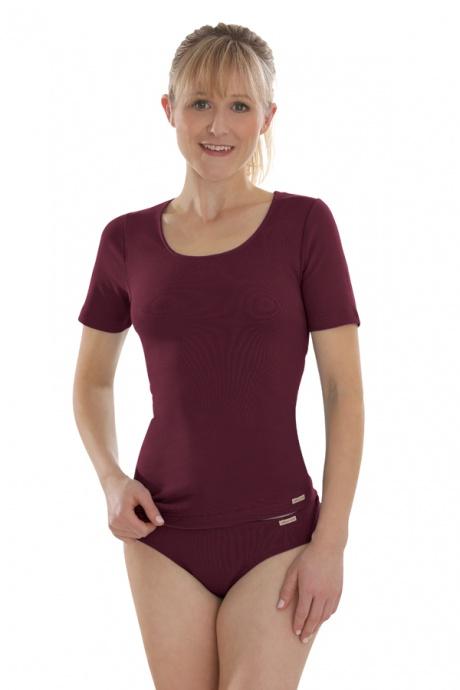 Comazo Biowäsche, Mini-Slip für Damen in burgund