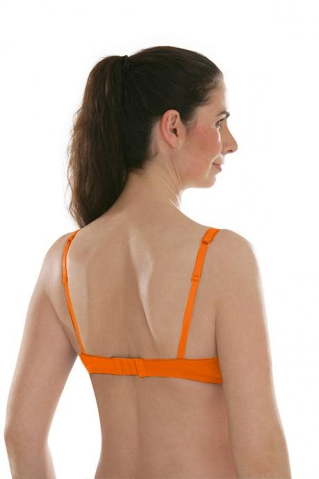 Comazo Unterwäsche, Padding-BH mit Stickblümchen für Damen in weiss- Rückansicht