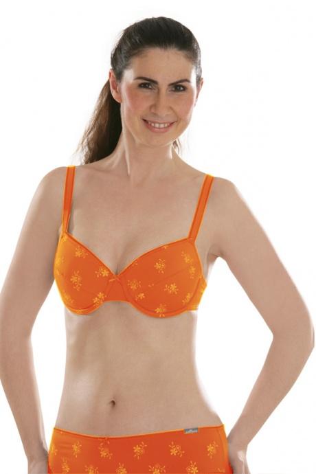Comazo Unterwäsche, Bügel-BH mit Stickblümchen für Damen  - Vorderansicht