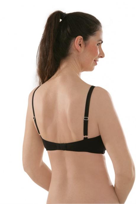 Comazo Biowäsche, BH für Damen in schwarz - Rückansicht