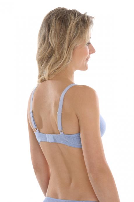 Comazo Biowäsche, BH für Damen in blau-melange