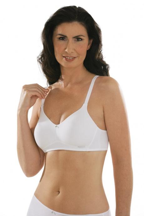 Comazo Unterwäsche, BH ohne Bügel für Damen in weiss - Vorderansicht