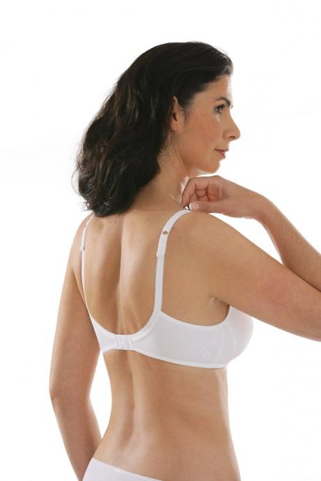 Comazo Unterwäsche, BH ohne Bügel für Damen in weiss - Rückansicht