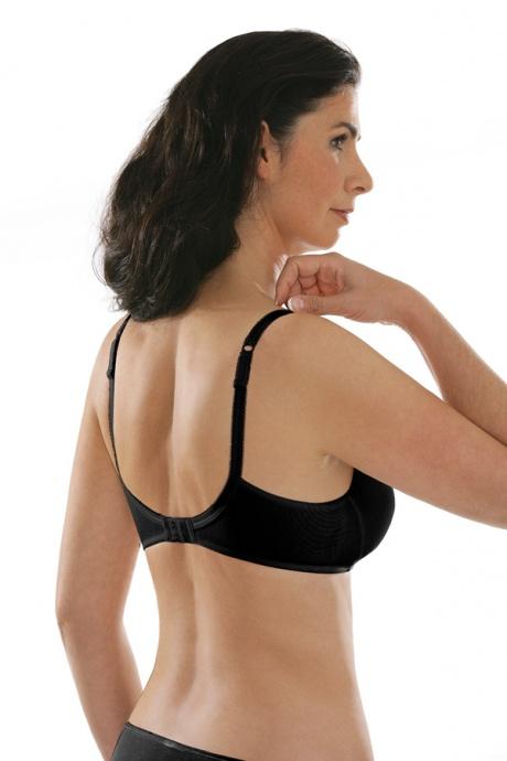 Comazo Unterwäsche, BH ohne Bügel für Damen in schwarz - Rückansicht