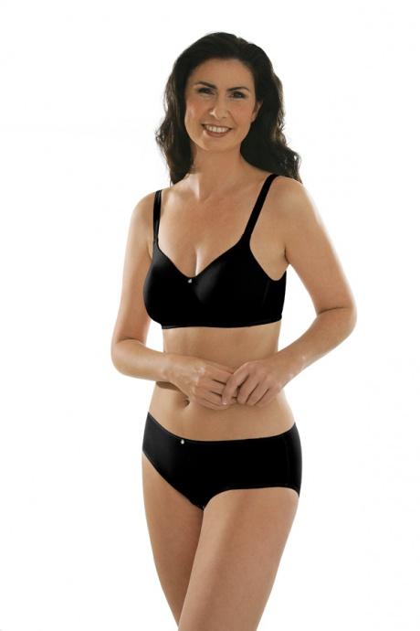 Comazo Unterwäsche, BH ohne Bügel für Damen in schwarz - Gesamtansicht
