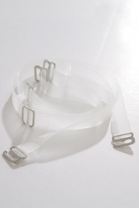 Comazo Unterwäsche, Push-Up BH für Damen in grau-melange - durchsichtige Träger