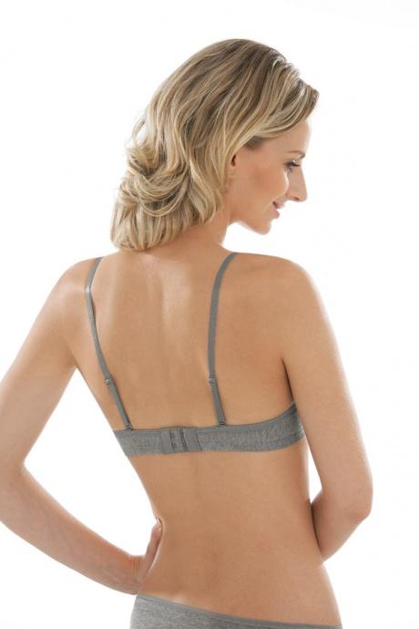 Comazo Unterwäsche, Push-Up BH für Damen in grau-melange - Rückansicht