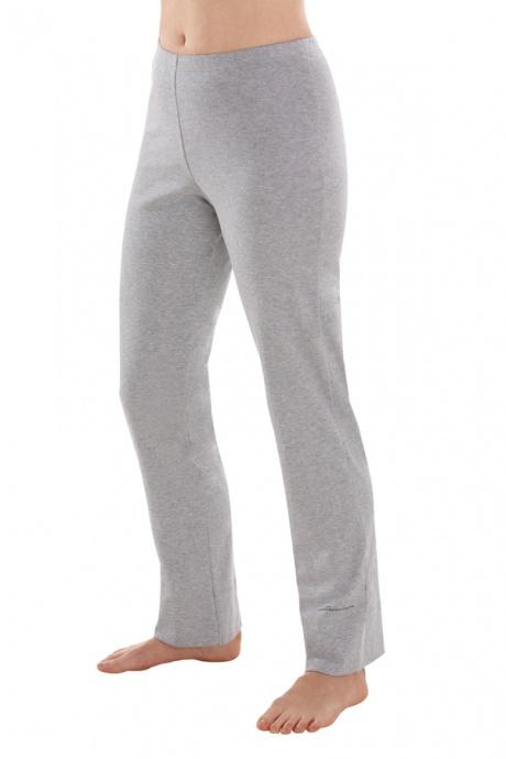 Comazo Biowäsche, Hose lang für Damen in grau-melange - Vorderansicht