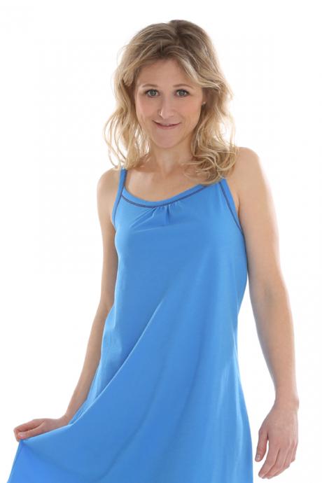 Comazo Biowäsche, Nachthemd für Damen in cornflower
