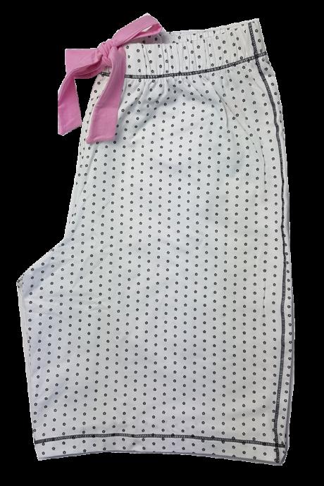 Comazo Lieblingswäsche Damen kurze Schlafhose in weiss/marine