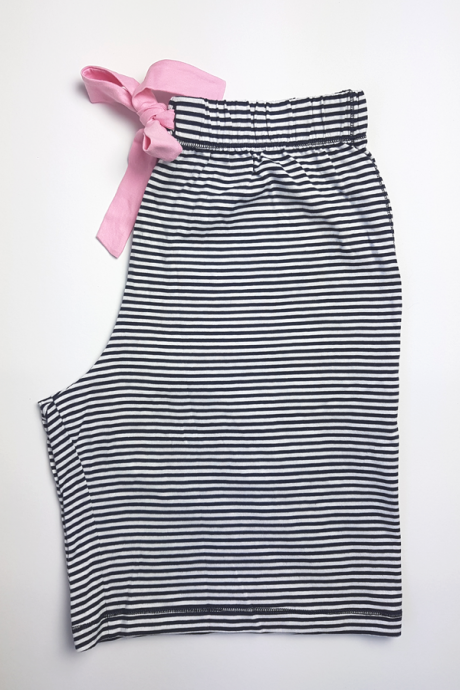 Comazo Lieblingswäsche Damen kurze Schlafhose in marine-geringelt