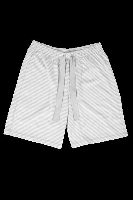 Comazo Lieblingswäsche Damen kurze Schlafhose in grau-geringelt
