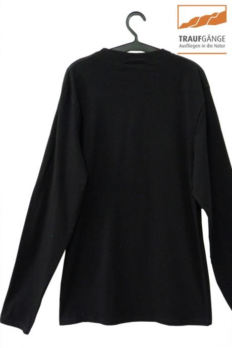 Comazo Biowäsche, Langarm Shirt für Herren in schwarz- Rückansicht
