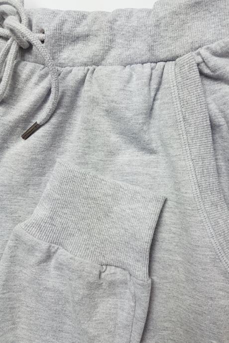 Homewear Damen Hose lang grau-melange