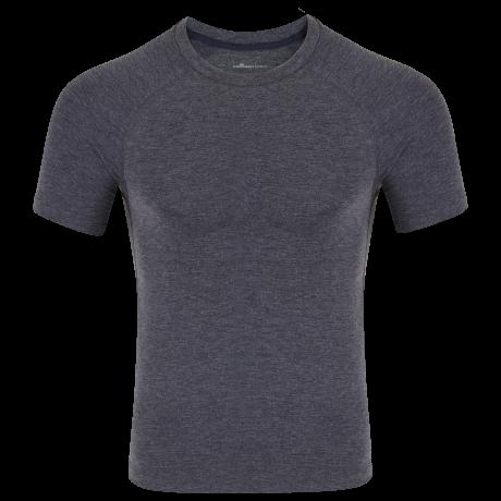 Comazo Funktionswäsche Herren Shirt kurzarm in navy-meliert