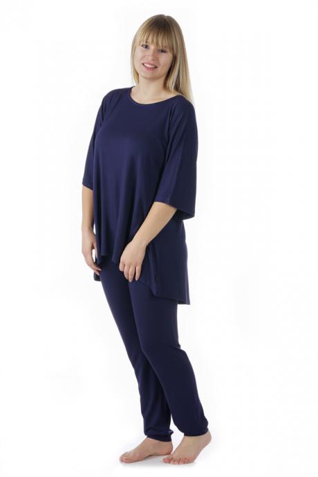 Comazo Lieblingswäsche Damen Schlafanzug in nachtblau