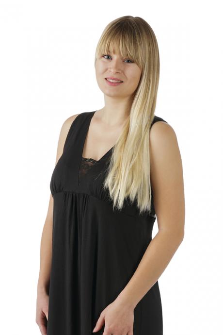 Comazo Lieblingswäsche Damen Nachthemd in schwarz