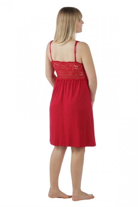 Comazo Lieblingswäsche Damen Nachthemd Neglige in rubin