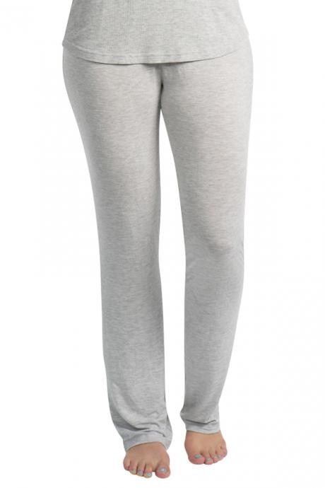 Comazo Lieblingswäsche Homewear Damen Hose lang in grau