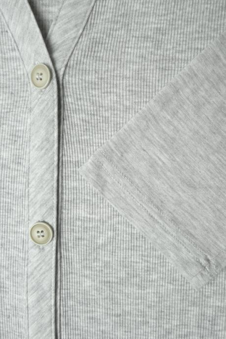 Comazo Lieblingswäsche Homewear Damen Jacke in grau
