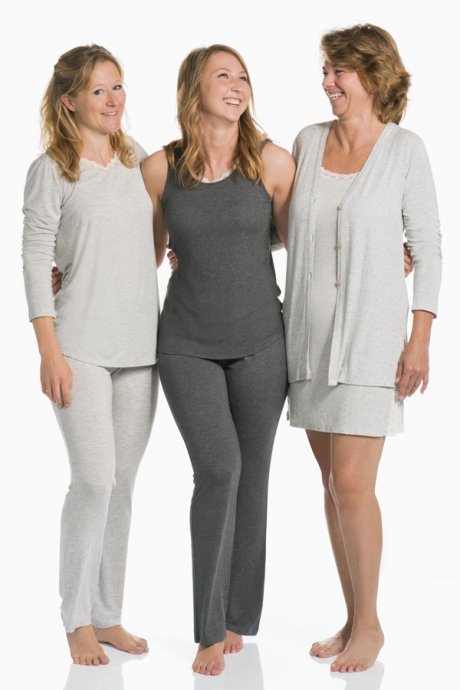 Comazo Lieblingswäsche Homewear Damen Top in anthrazit