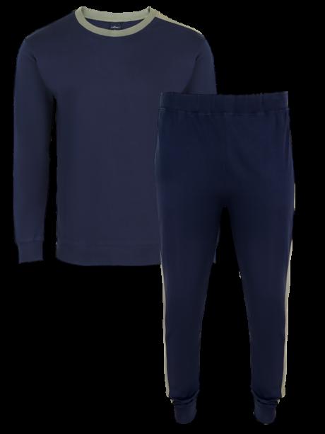 Comazo Nachtwäsche Herren Lieblingswäsche Schlafanzug in navy