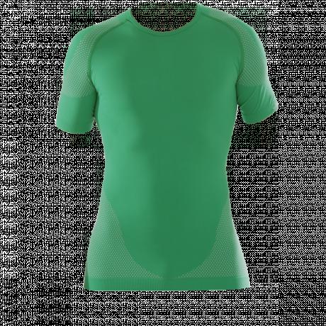 Funktionsshirt grün kurzarm Vorderseite
