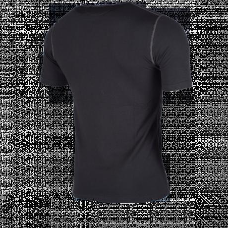 Funktionsshirt schwarz kurzarm Rückseite