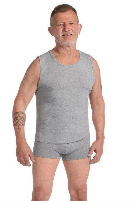 Comazo Biowäsche Muscleshirt für Herren in grau-melange