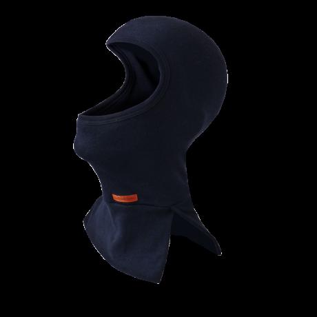 Flammschutzhaube mit geteiltem Hals