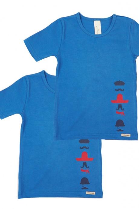 Comazo Biowäsche, Shirts für Jungen in blau im Doppelpack