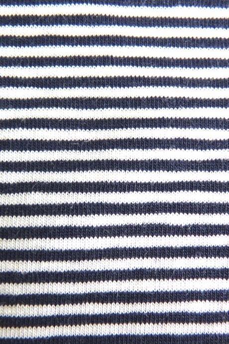 Comazo Biowäsche, Slip für Mädchen, marine geringelt - Detailansicht