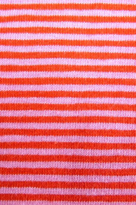 Comazo Biowäsche, Spaghettiträger-Hemd für Mädchen, tomate geringelt - Detailansicht
