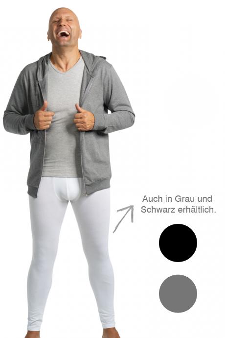 Comazo Lieblingswäsche Herren Unterwäsche Hose lang in grau-melange