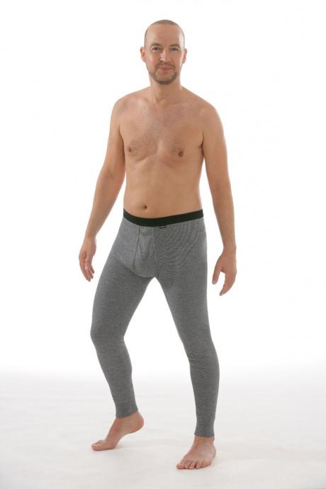 Lange Unterhose mit Eingriff grau, Gesamtansicht