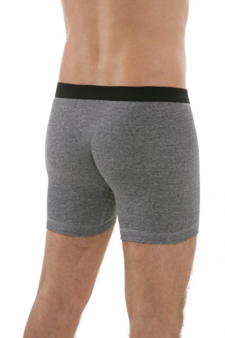 Unterhose kurz mit Eingriff graumeliert, Rückseite