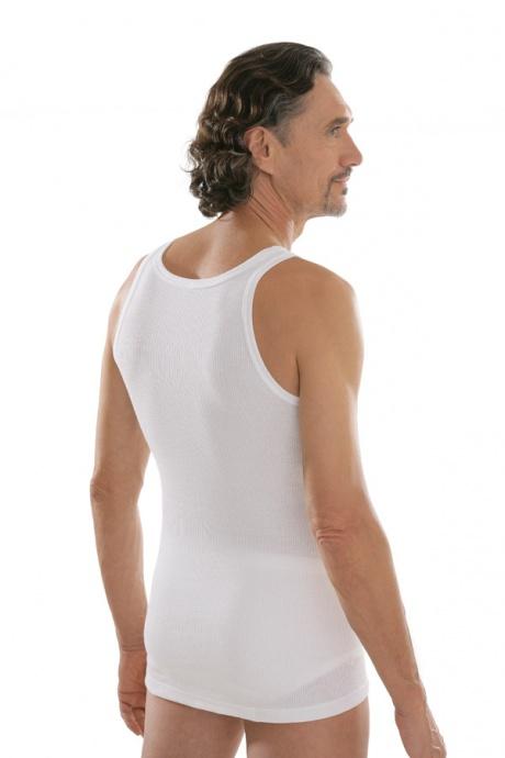 comazo|platin Unterwäsche, Unterhemd in weiss - Rückansicht