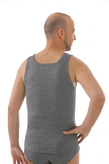 Seamlessshirt ohne Arm, grau, Rückansicht