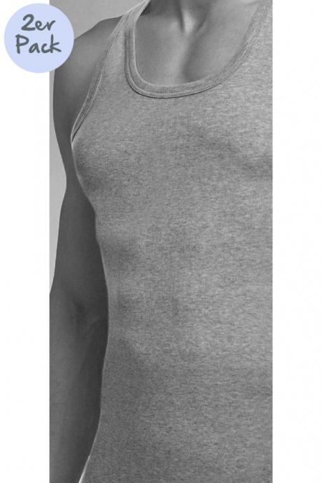 Comazo Lieblingswäsche, Unterhemd ohne Arm für Herren in grau-melange